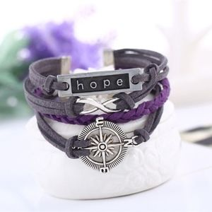 Jewelry - Multilayer Leather Compass Infinity Charm Bracelet